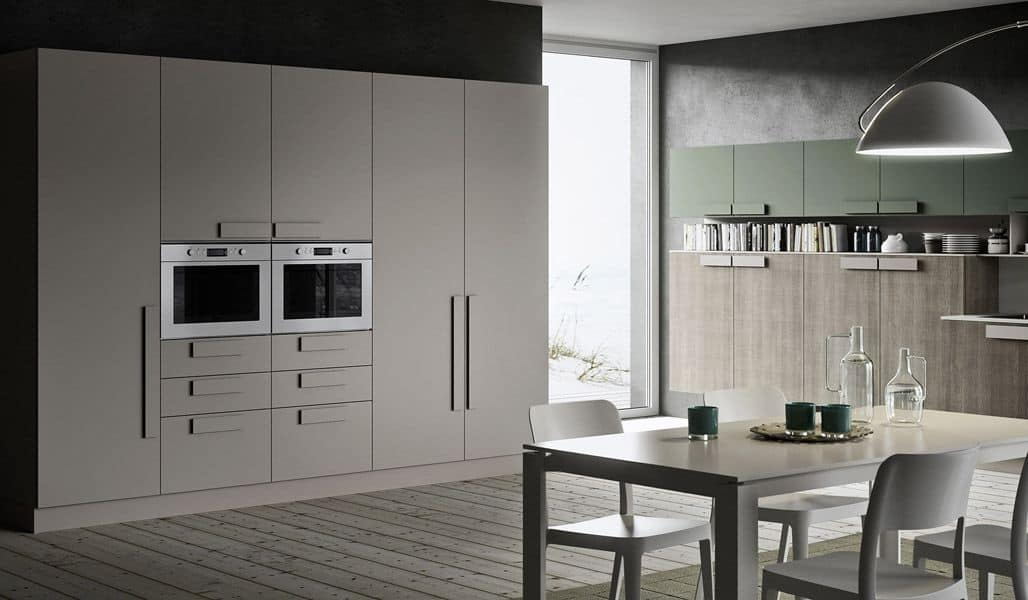 One k04 handle cucina moderna ideale per loft idfdesign - Cucine per loft ...