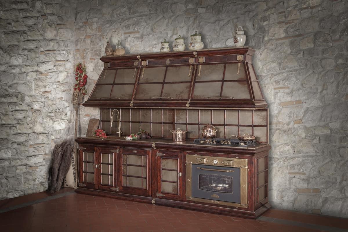 Cucina rustica con rifiniture in corten invecchiato | IDFdesign