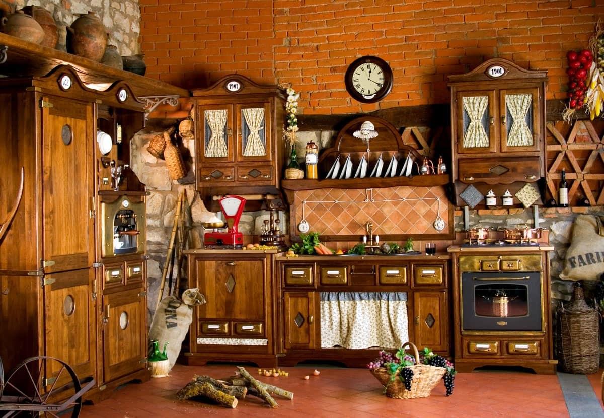 Cucina rustica con elettrodomestici idfdesign for Arredo cucina rustica
