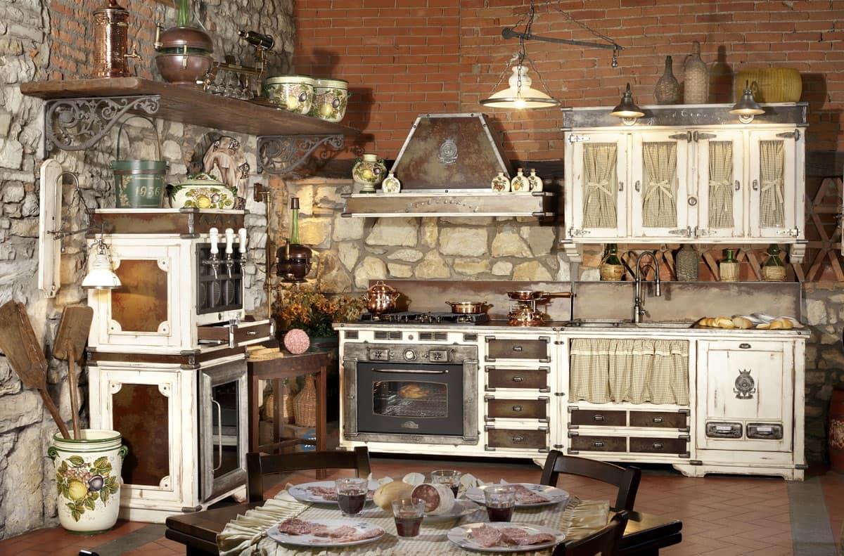 Cucina modulare con elettrodomestici piano cottura in - Elettrodomestici cucina ...