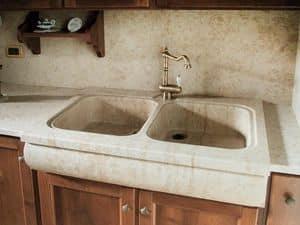 Immagine di Cucina 004, pavimenti con motivi geometrici