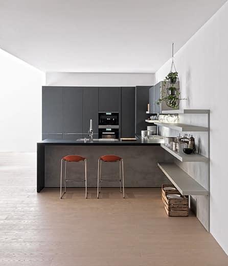 Cucina hi tech per casa minimale varie finiture idfdesign - Cucine high tech ...
