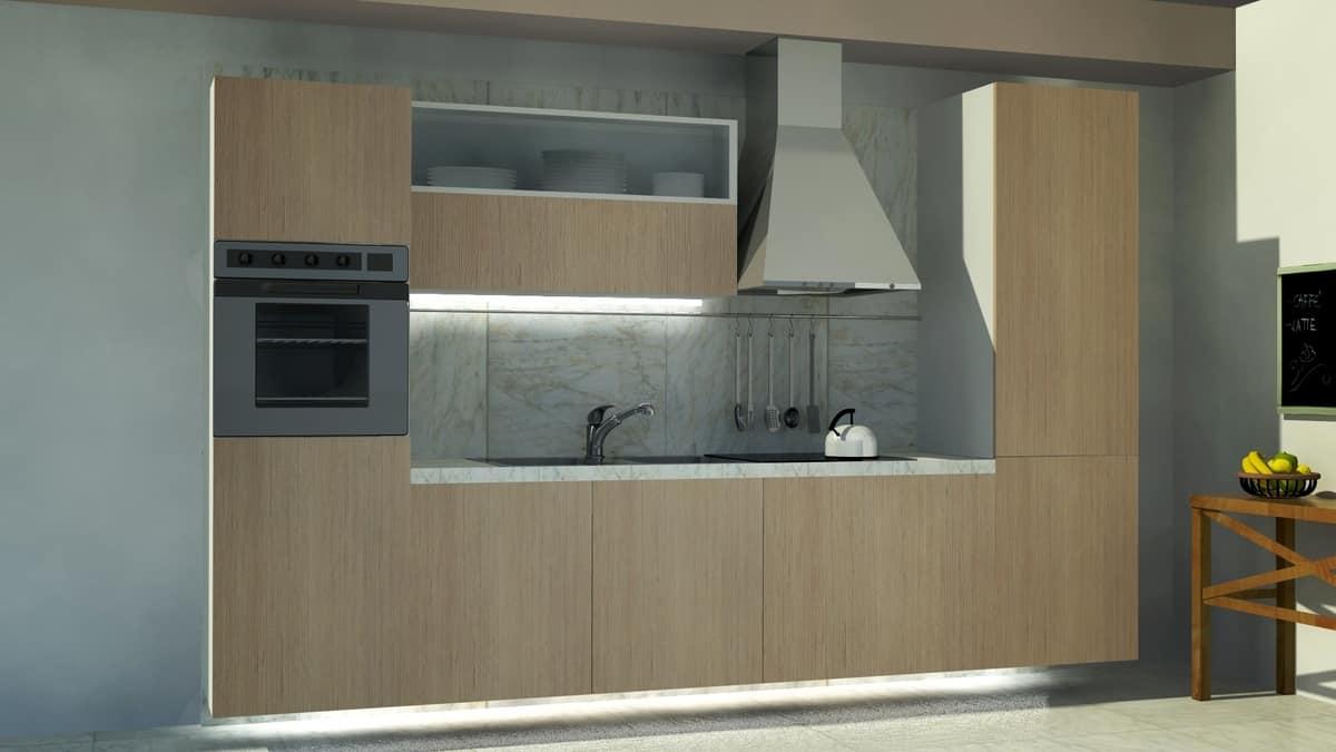 Cucina compatta dal design pulito idfdesign - Cucina compatta ...