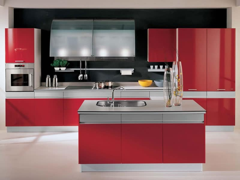 Cucina in rovere bicolore cucine moderne alev cucine - Cucine bicolore moderne ...