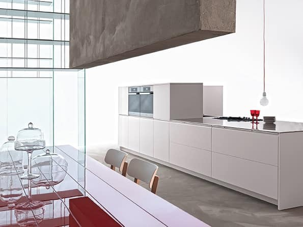 Cucina firmata in stile minimalista varie finiture for Casa stile minimalista