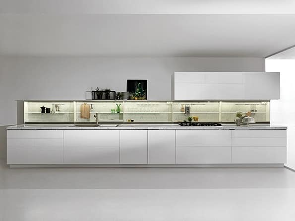 Cucina lineare per casa moderna idfdesign - Dada cucine prezzi ...