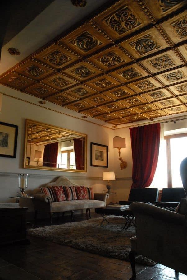 Pannello decorativo dorato in stile classico idfdesign - Pannello decorativo parete ...