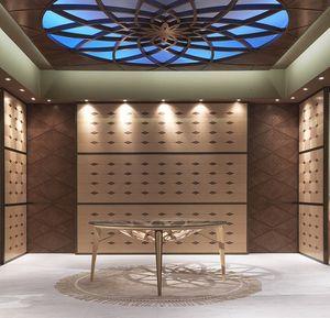 BOIS10 Galileo, Boiserie in legno intarsiato, per alberghi e ristoranti