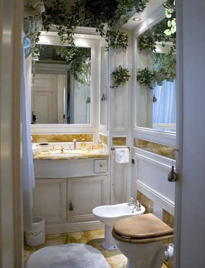Boiserie per bagno con inserti in marmo stile classico idfdesign - Bagno con boiserie ...