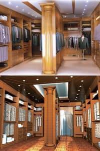 Boiserie cabina armadio, Boiserie in legno per cabina armadio