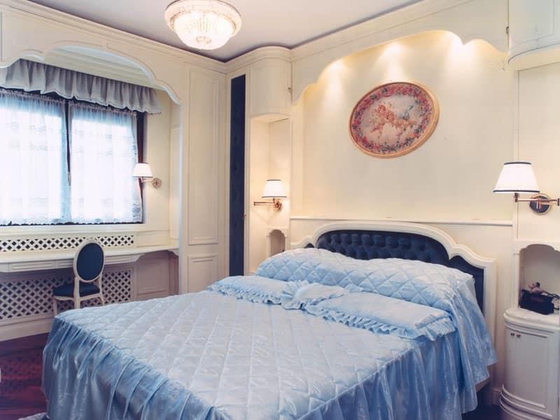 Camera Da Letto Con Boiserie : Boiserie in legno per camera da letto stile classico idfdesign