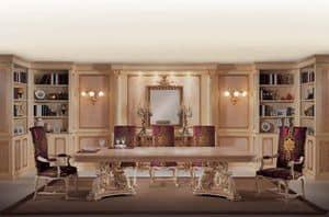 Boiserie Caravaggio, Elegante boiserie classica, con decori intagliati a mano