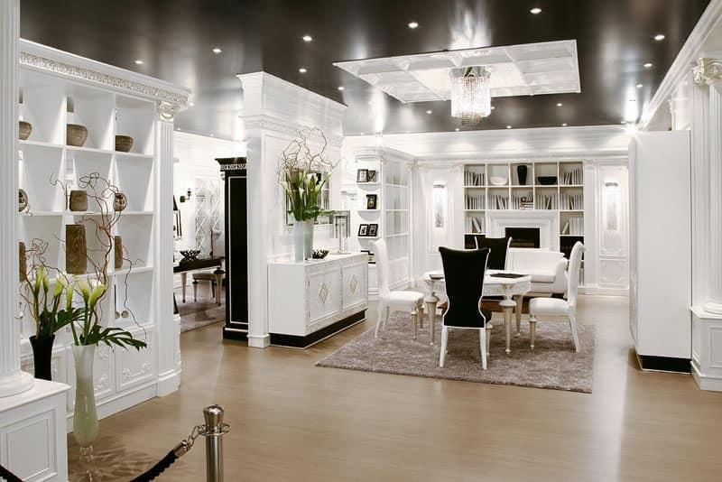 Parete decorativa per salotto modulare di lusso idfdesign for Parete colorate moderne