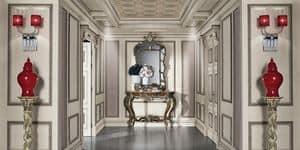 Immagine di Boiserie con soffitto dipinto, parete-classica-di-lusso