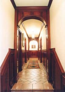 Immagine di Boiserie corridoio, parete in legno