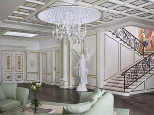 Boiserie hall, Boiserie classica per ingresso, boiserie neoclassica per la casa