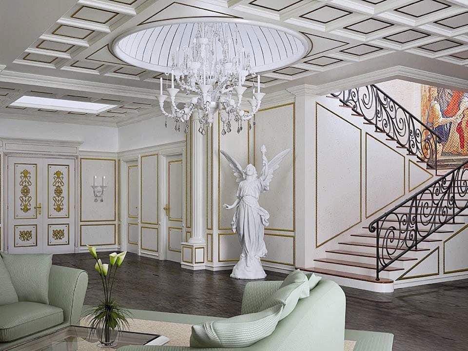 Boiserie classica per ingresso boiserie neoclassica per for Ingresso casa classica