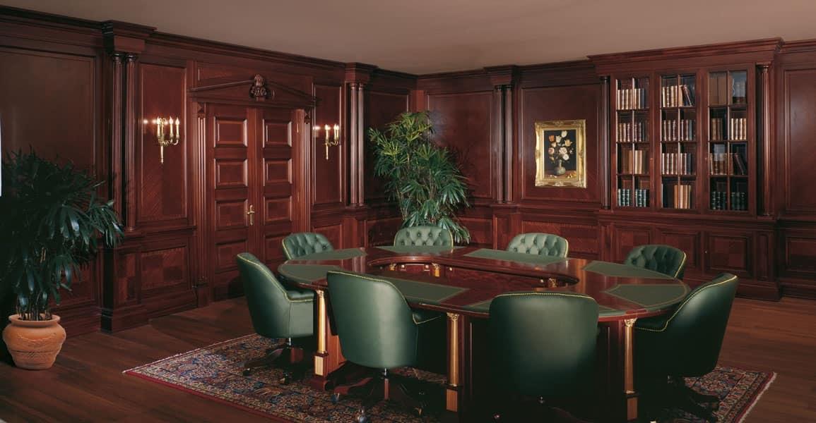 ... imperial 1, Boiserie in legno, artigianali, per prestigiosi uffici