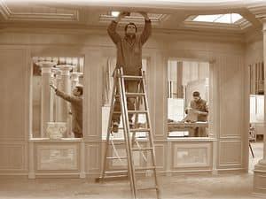 Immagine di Boiserie in costruzione, pareti classiche di lusso