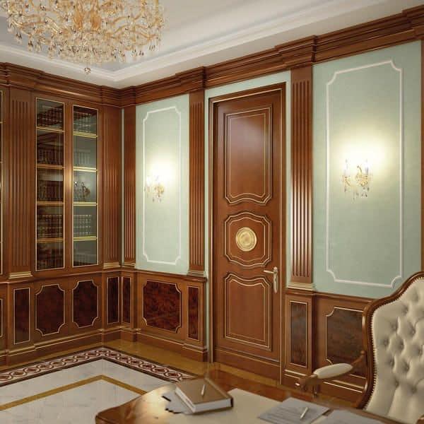 Boiserie in legno per hotel e ville ideale per l 39 arredamento classico ed in stile idfdesign - Boiserie camera da letto ...