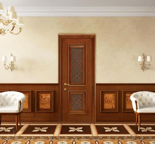 Boiserie in legno per hotel e ville ideale per l 39 arredamento classico ed in stile idfdesign - Decorazioni pareti scale interne ...
