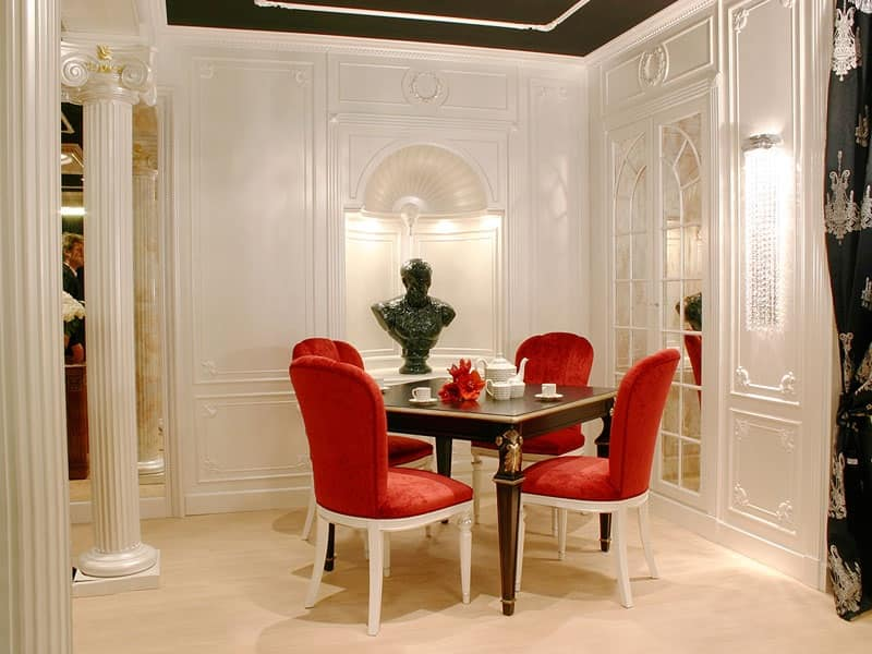 Boiserie Luxor 2, Boiserie in legno per ambienti in stile classico