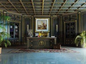 Immagine di Boiserie Luxor, parete classica di lusso