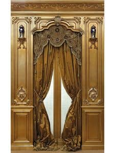 Immagine di Boiserie oro, parete classica di lusso
