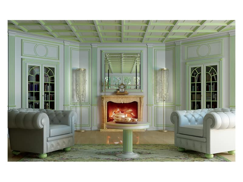 boiserie in stile classico di lusso | idfdesign - Soggiorno Classico Di Lusso 2