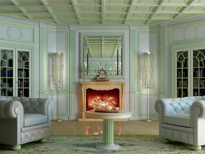 Immagine di Boiserie Oxford 2, parete classica di lusso
