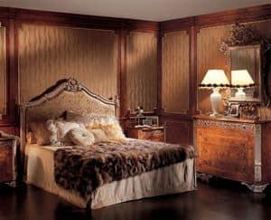 Boiserie Picasso, Pannelli boiserie in legno pregiato, per camera da letto