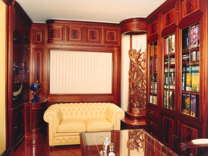Boiserie studio, Boiserie in legno, stile classico, per uffici