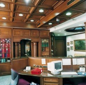 Immagine di Boiserie ufficio, pareti decorative
