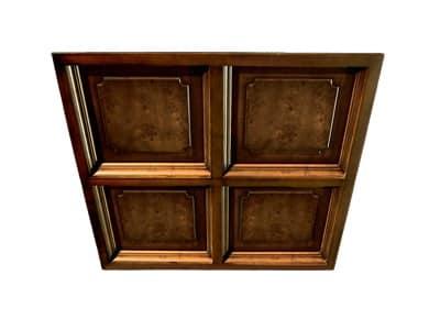 Pareti in legno controsoffitto a cassettoni cambridge for Controsoffitto in legno