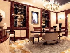 Immagine di Dolce Vita Boiserie con Tv, parete classica di lusso