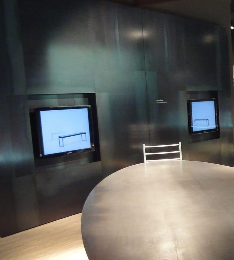 boiserie in acciaio, rivestimento modulare per parete e soffitto  IDFdesign