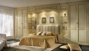 R 10, Boiserie per camera da letto con ponte con luci