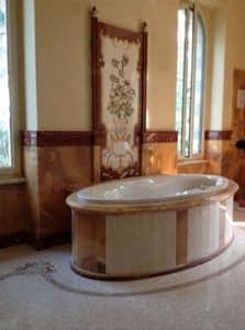 Immagine di Rivestimento bagno 007, pareti-in-legno
