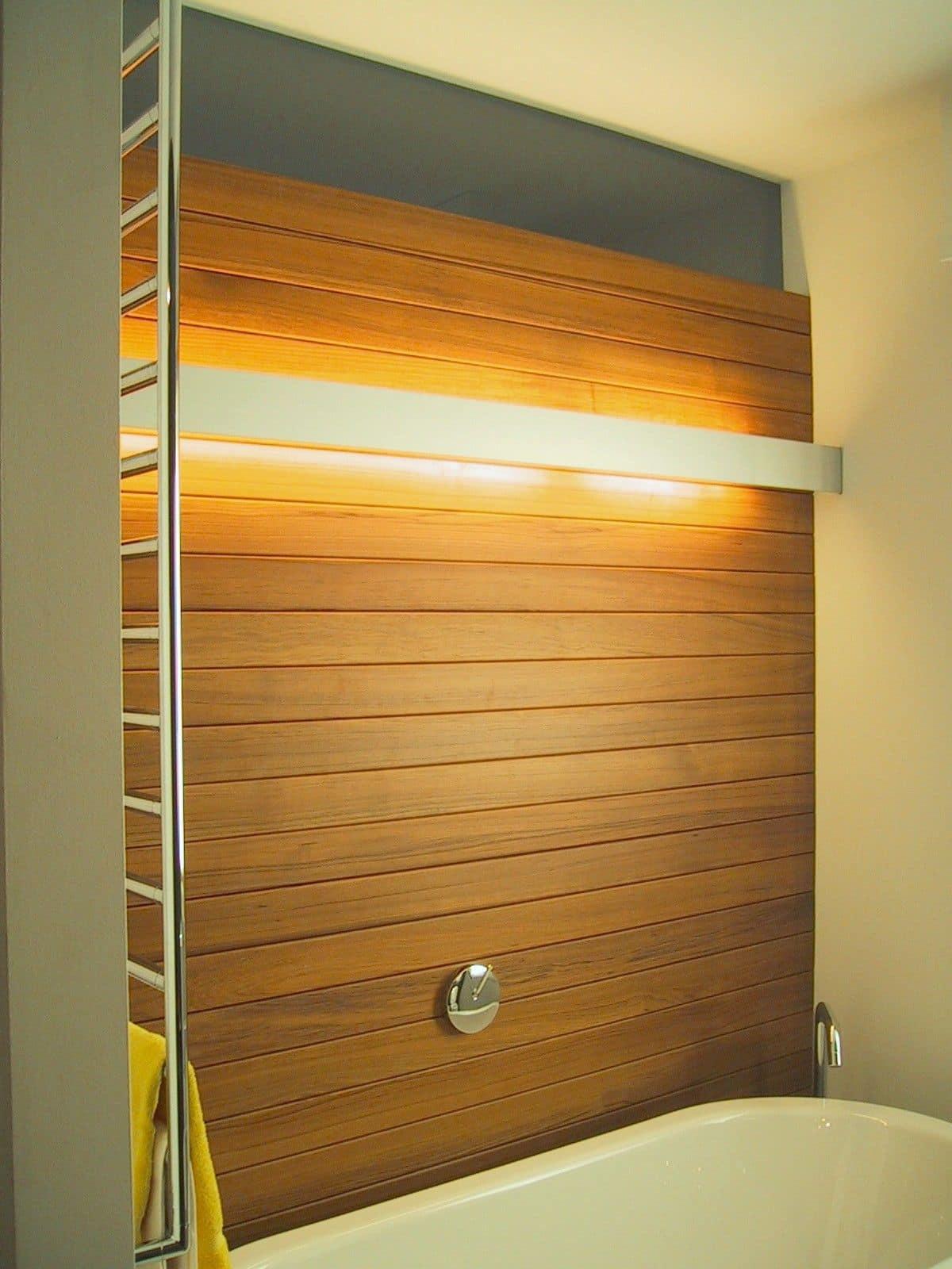 Zen boiserie in legno per bagno su misura idfdesign - Bagno con boiserie ...