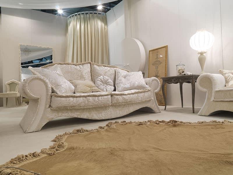 300D, Divano classico di lusso Salotto - IDFdesign