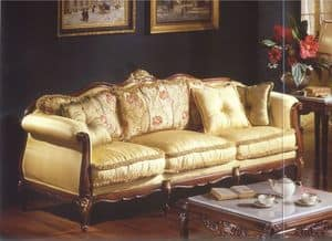 3315 DIVANO, Divano a 3 posti per salotti in stile classico di lusso
