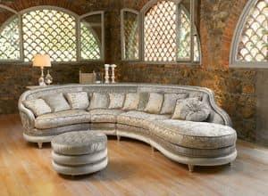 Immagine di Airone componibile, divano classico di lusso