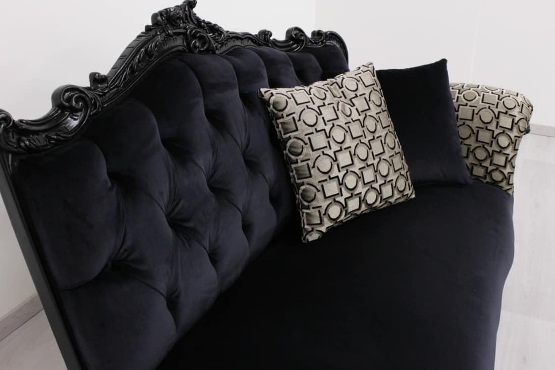 Angolo divano con un bracciolo, Divanetto di lusso, in stile classico contemporaneo