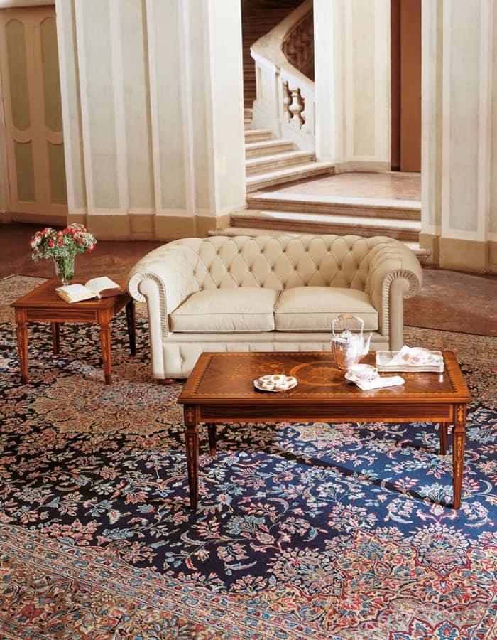 Art. 1009, Divano classico per salotto, divano 2 posti per salotti