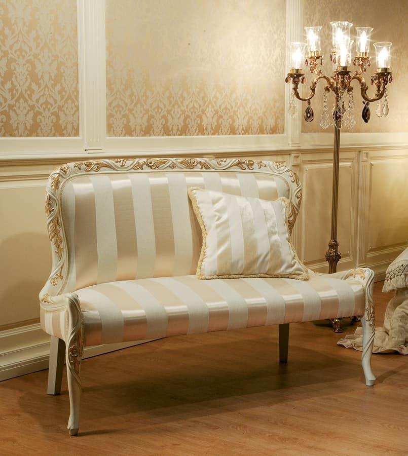 Divanetto in tessuto senza braccioli stile barocco - Divani in stile barocco ...