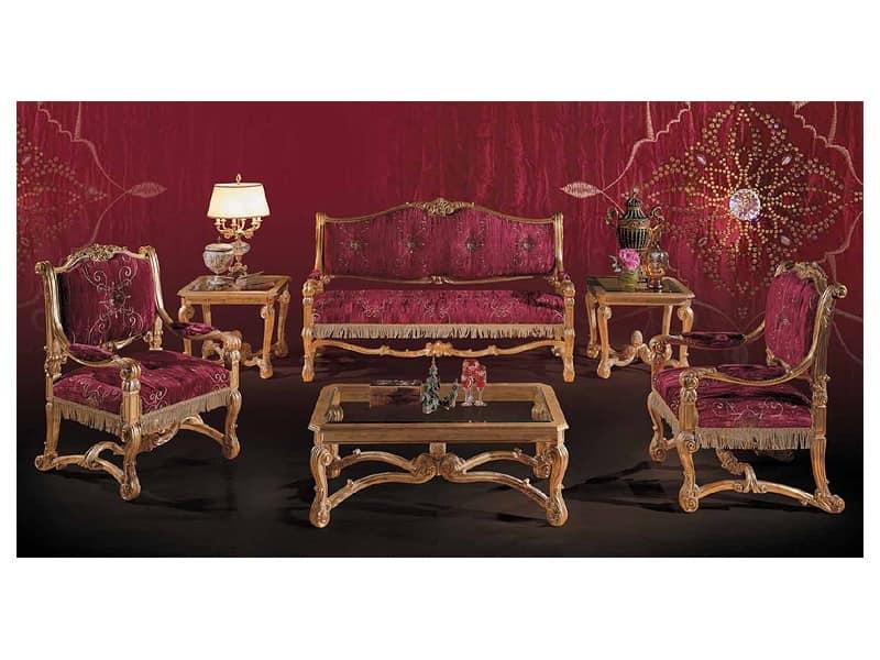 Art 5772 divano classico di lusso salotti idfdesign for Bellotti arredamenti