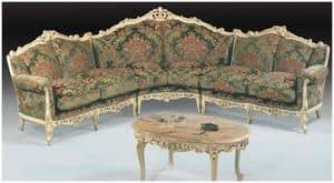 Barocco corner sofa, Divano angolare classico di lusso