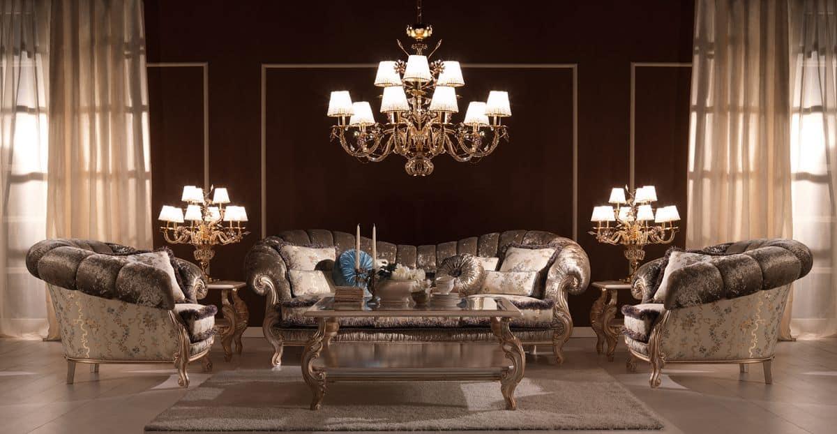 Divano classico di lusso alta qualit per ville idfdesign for Divani di lusso prezzi