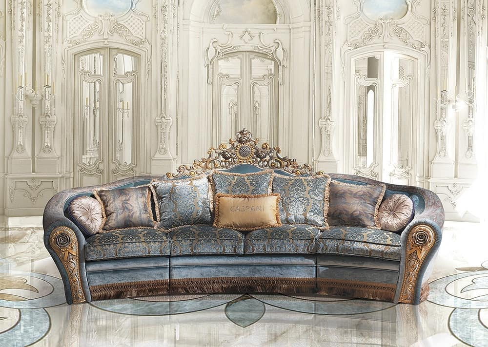 divano in stile classico di lusso idfdesign