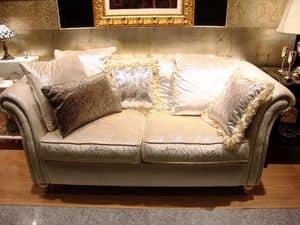 Briefi, Divano 2 posti per salotto, divano classico per salotti